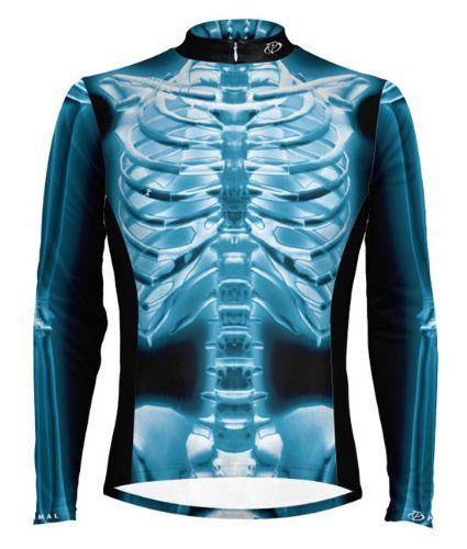 Primal Wear X-Ray Skeleton Cycling Jersey Men's Long Sleeve 3XL
