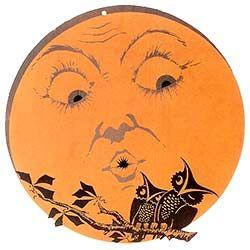 Vintage Halloween Clip Art | Beautiful Halloween Moon and Owls Pumpkin Stencil @ Vintage Fangirl