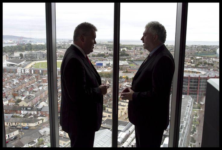 Great view of Dublin. Joe Aherne, CPA Ireland President and John Herlihy, VP Google Ireland at Google HQ.