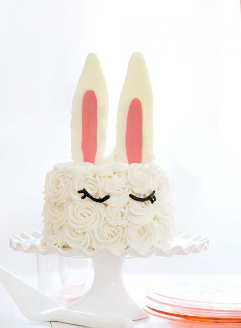 Beautiful Easter cake recipes: Bunny Ear Cake at I Am Baker