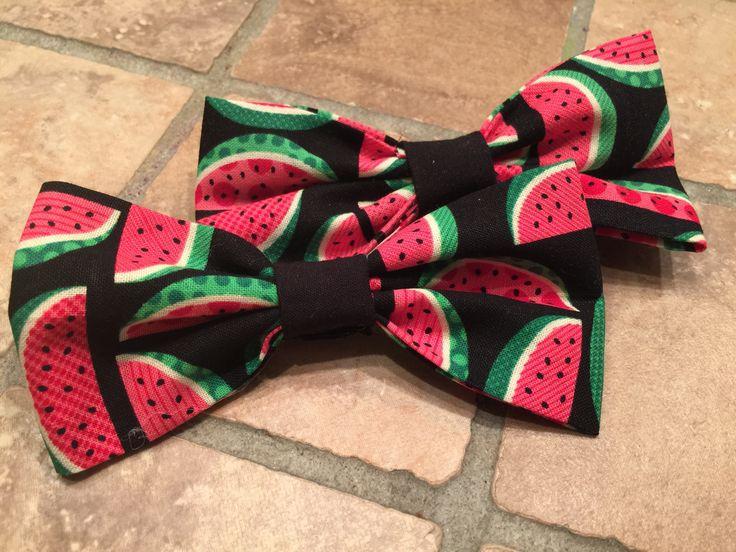 Retro Inspired Watermelon Hair Bow