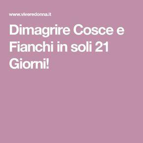 Dimagrire Cosce e Fianchi in soli 21 Giorni!