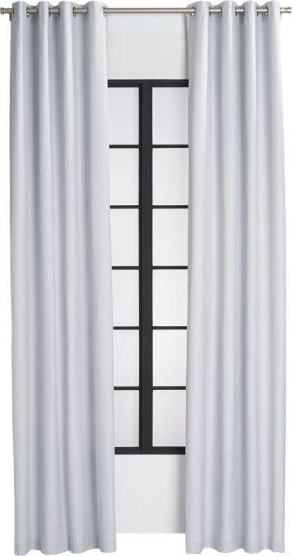 "basketweave silver grey curtain panel 48""""x120"""""