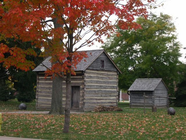 The Mcguffey Birthplace A Typical Log Cabin Of Western