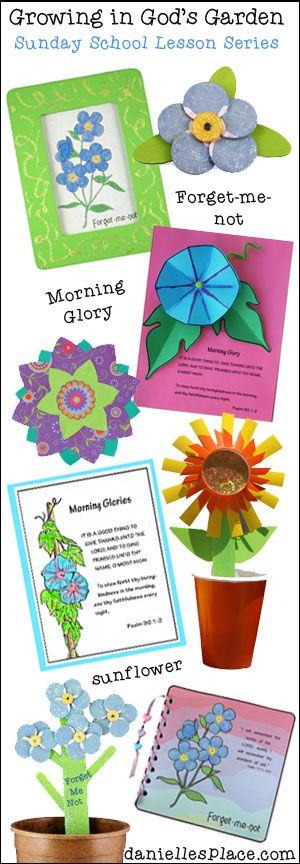 Growing in god 39 s garden bible lessons for children from for Childrens sunday school crafts