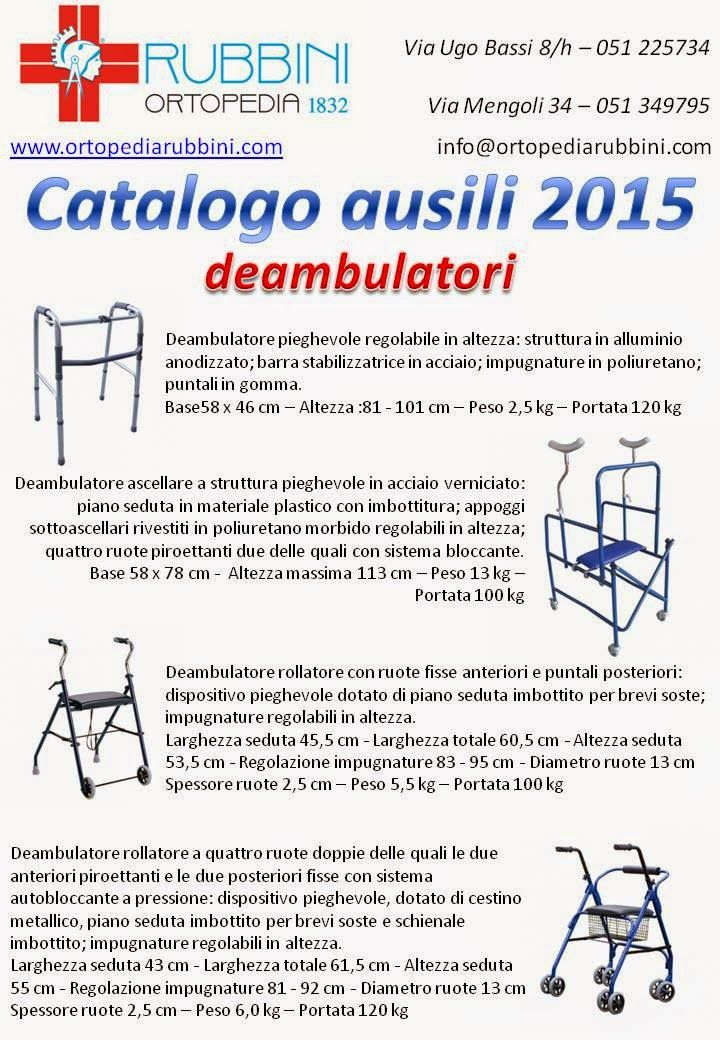 ROBERTO RUBBINI Tecnico Ortopedico: CATALOGO AUSILI