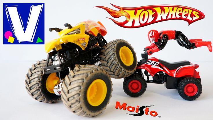 Распаковка машинки Монстр Джем Hot Wheels (Хот Вилс) и квадроцикла Maisto (Маисто). Делаем обзор 2 новых игрушечных машинок и играем с ними. Спасибо, что смо...