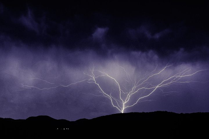Lightning Above the Mountain