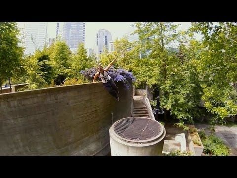 One path - Parkour girl Brandee flows around one of Seattle's best parkour spots