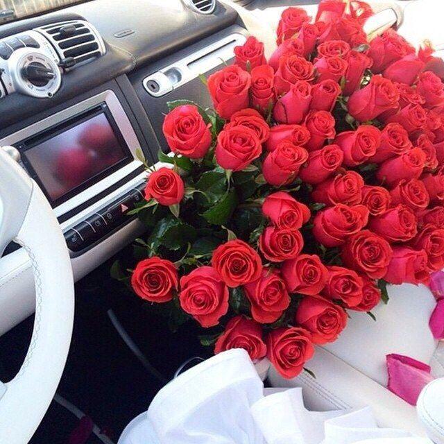 розы, автомобиль