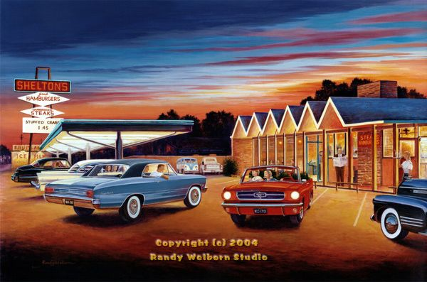 14 best images about mustang art on pinterest ponies for Diner painting