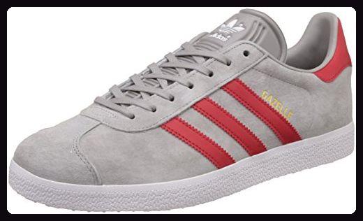 adidas Unisex-Erwachsene Gazelle Sneaker, Grau (Mgh Solid Grey/Scarlet/Ftwr White), 47 1/3 EU - Sneakers für frauen (*Partner-Link)
