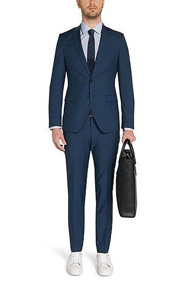 Unifarbener Extra Slim-Fit Anzug aus reiner Schurwolle: 'Rocco/Wyatt'