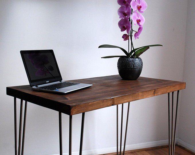 Modern Desk With Metal Hairpin Legs Industrial Desk Office Desk