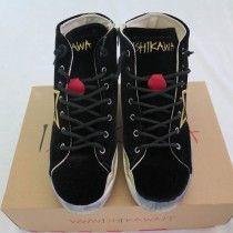 Scarpe sportive Ishikawa, made in Italy, chiuse con lacci e zip laterale, realizzate a mano.