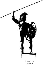 leonidas statue sticker by fantastick wall art #fantastick #onyourwall #wallart #sticker #home #deco