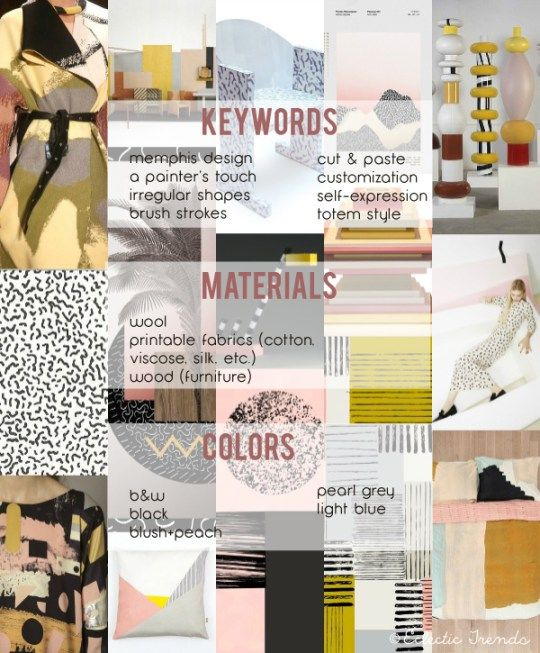 Eclectic Trends: My lifestyle trends AW 2016/17 for Global Color Research: COLLAGE