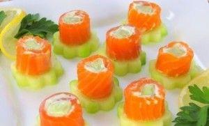 Borrelhapjes maken met komkommer