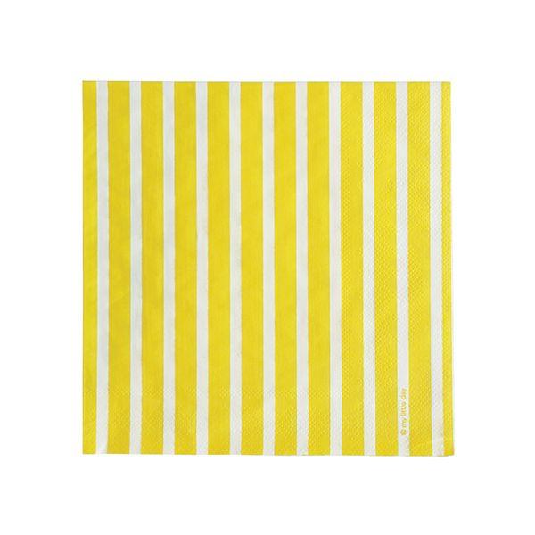 Servetten gele streepjes