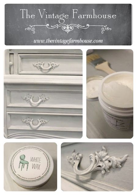 The Vintage Farmhouse: Miss Mustard Seed White Wax. Furniture RefinishingPainting  ...
