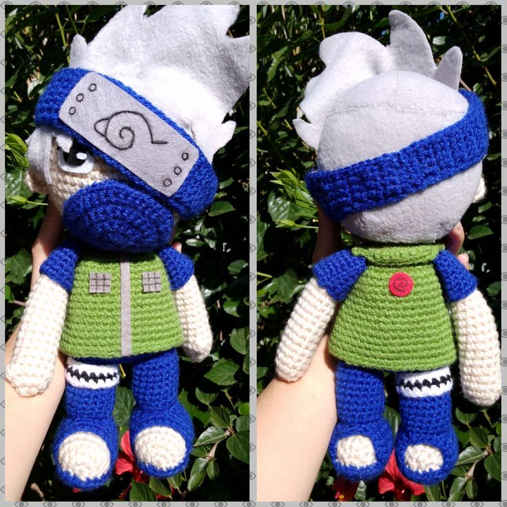 #Kakashi #Hatake is a #shinobi of #Konohagakure's Hatake clan. He is one of #Konoha's most talented #ninja; regularly looked to for advice and leadership despite his personal dislike of responsibility. -- Find this and other #amigurumi in my #Storenvy #store, link in bio ;)