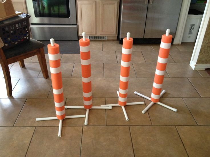"Construction Theme Classroom | made these ""traffic cones"" for my construction theme classroom! I ..."
