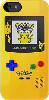 Gameboy Color Pokemon edition iPhone & iPod Cases