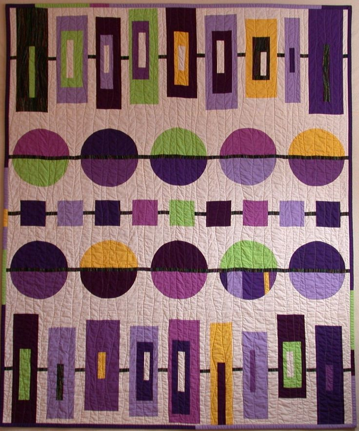 Love the colors and this pattern. Art quilt modern