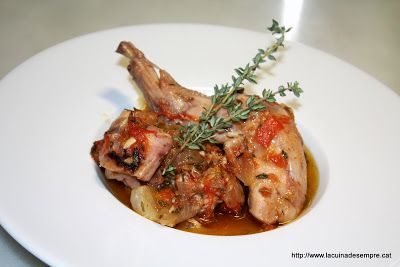 Smothered rabbit casserole - Conill ofegat a la cassola - La cuina de sempre