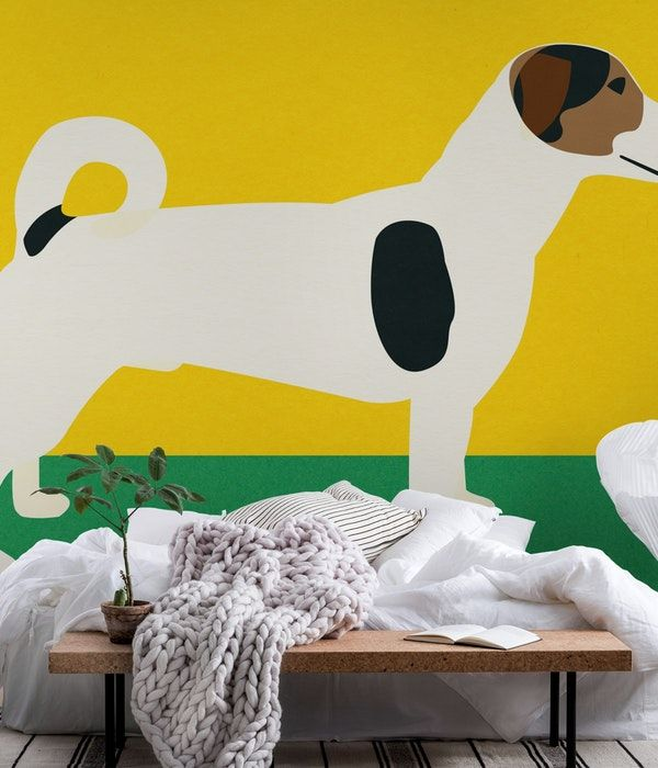 Cat The Dog Wall Mural With Images Wall Murals Mural Dog Wallpaper