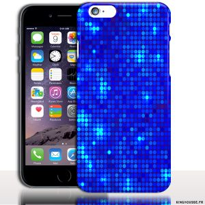 Coque iPhone 6 Apple | Disco Bleu | Dimension 4.7 pouces | Coque rigide. #Coque #iPhone6 #Paillette #Bleu