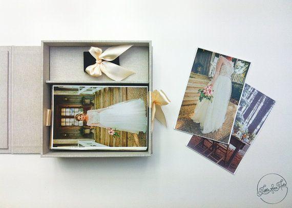 "Presentation Box 4""x6"" (10x15cm), Photo + USB Box /Photographer Photo Packaging or Gift Box/"