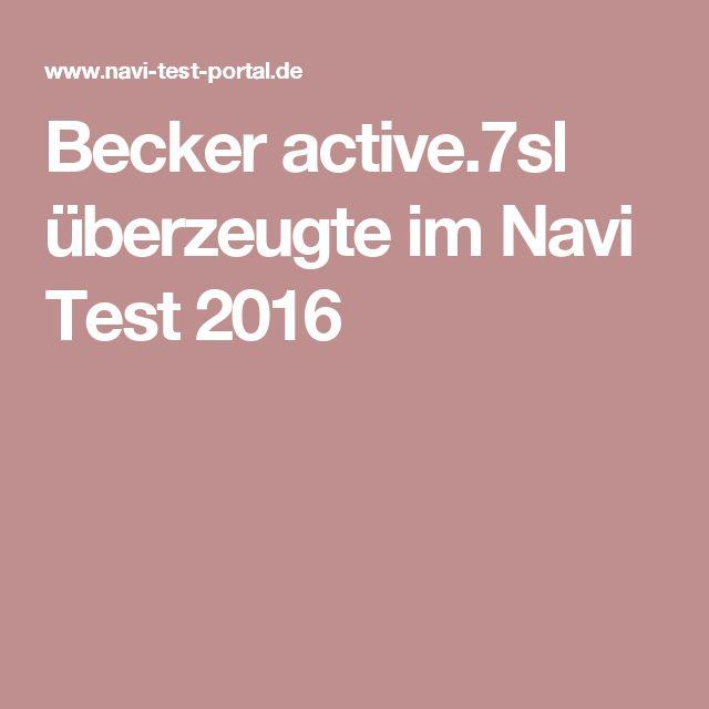 Becker active.7sl überzeugte im Navi Test 2016