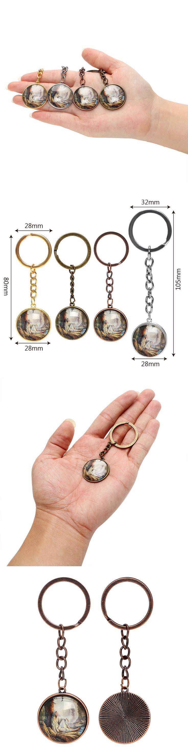 Jesus Christ Keyring Keychain Top Quality Car Key Chain Creative Pendant Alloy Key Fob Car Styling Auto Key Ring Decoration
