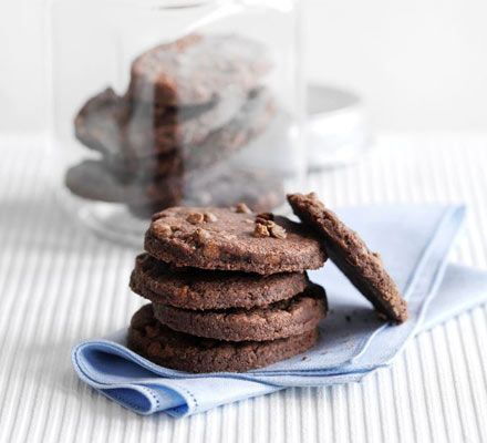 Double chocolate shortbreads. You're only five ingredients away from a double chocolate melt-in-your-mouth delight
