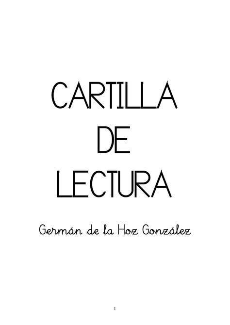 Cartilla de lectura #niños #pedagogia @CentroAbacer
