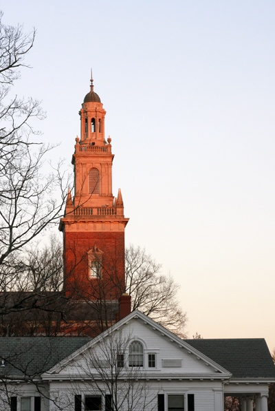 Swasey Chapel at Denison University with Beth Eden Admissions and Financial Aids office
