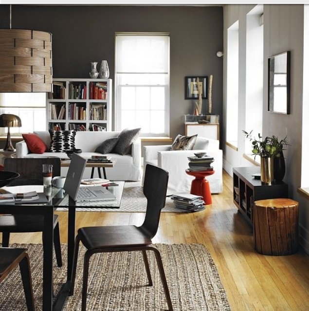 Gray Walls With Light Wood Floors