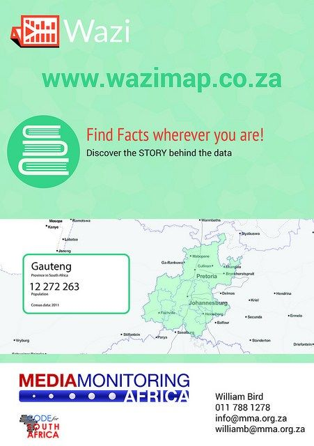 4th Nov: Wazimap is an interactive census tool designed to generate precise demographical statistics.