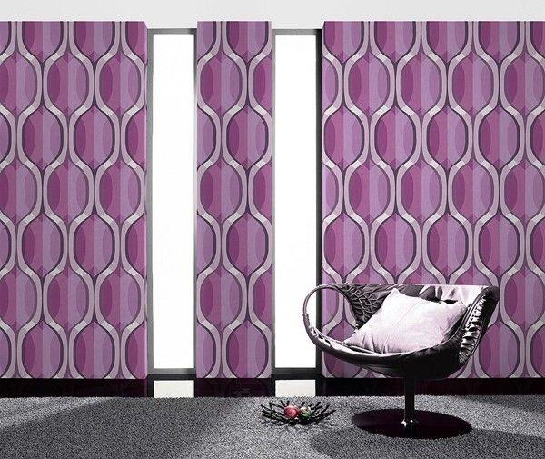 790054 Retro behang Trendy paars roze wit 027 | Goedkoop behang | ABCBEHANG de grootste behangwinkel van nederland direct uit voorraad leverbaar