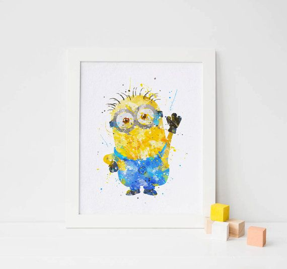 Hey, I found this really awesome Etsy listing at https://www.etsy.com/listing/268738386/minion-printable-minion-watercolor