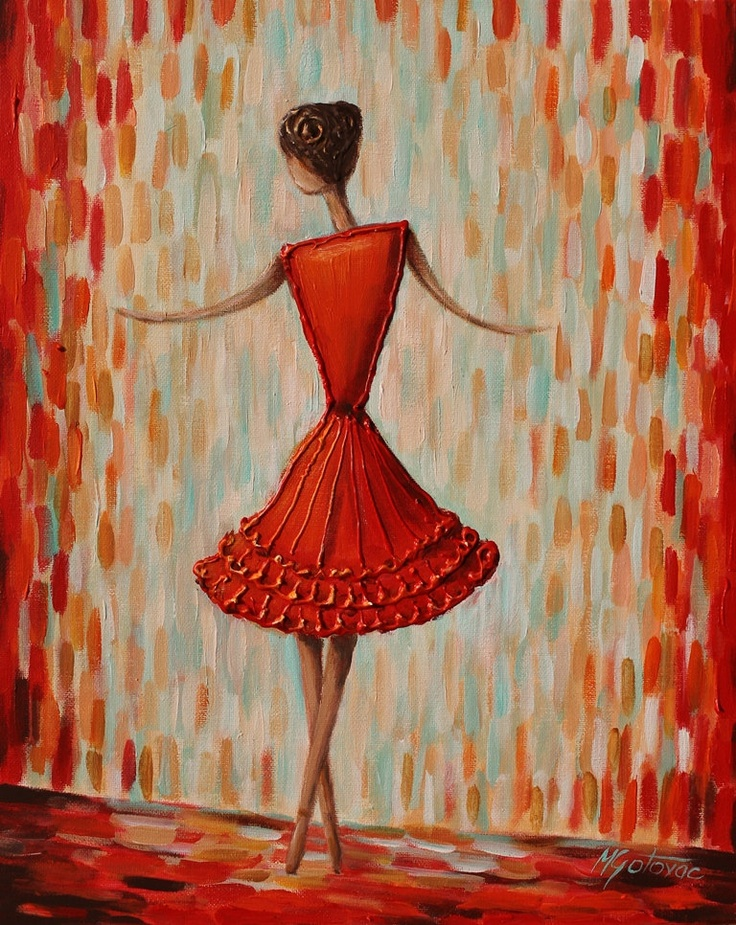 original acrylic painting ballerina 16x20 modern contemporary acrylics originals and