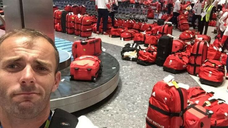 British Olympic Athletes Had a Difficult Time Locating Their Bags At The Airport Because They All Have Exactly The Same Bag - http://www.facebook.com/1494938367417966/posts/1787208071524326