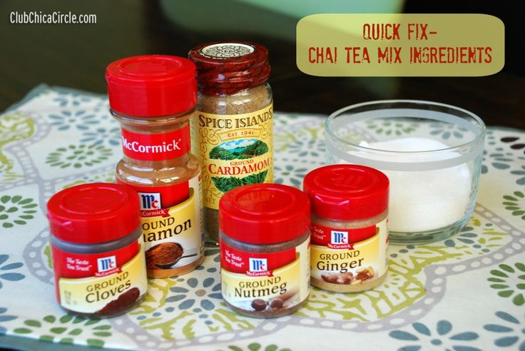 Quick Fix - Chai Tea Mix   Tween Craft Ideas for Mom and Daughter