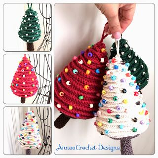 Tree Ornaments By Annoo Crochet - Free Crochet Pattern - Step-by-step instructions. (annoocrochet)