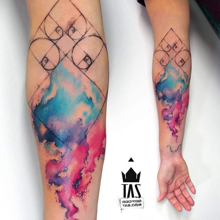 Watercolor Tattoo by Rodrigo Tas