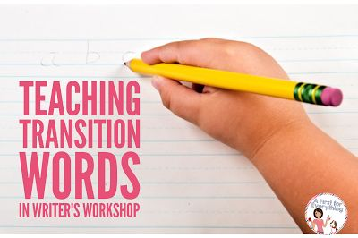 Help your Kindergarten, 1st, 2nd, or 3rd grade classroom or homeschool students better understand transitional words with the anchor charts and ideas at this blog post. With a focus on transition words in writer's workshop, your students are sure to understand the concept after you model your expectations. This can be turned into a great writing mini lesson for any primary classroom! Click through now for all the details. {K, first, second, third grader}