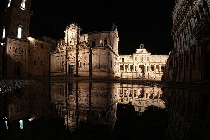 Piazza del Duomo after the shower, Lecce, Salento (the heel of the italian boot)