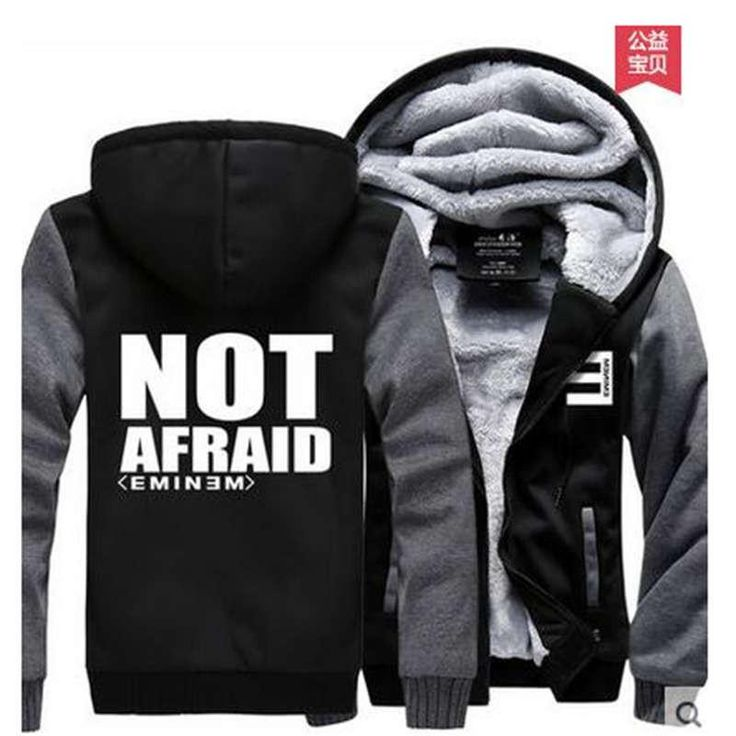 2017 Hot New Eminem Hoodie Hip-Hop Winter Fleece Mens Sweatshirts
