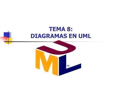 TEMA 8: DIAGRAMAS EN UML. Introducción a UML2 Diagramas en UML El bloque de construcción básico de UML es un Diagrama.